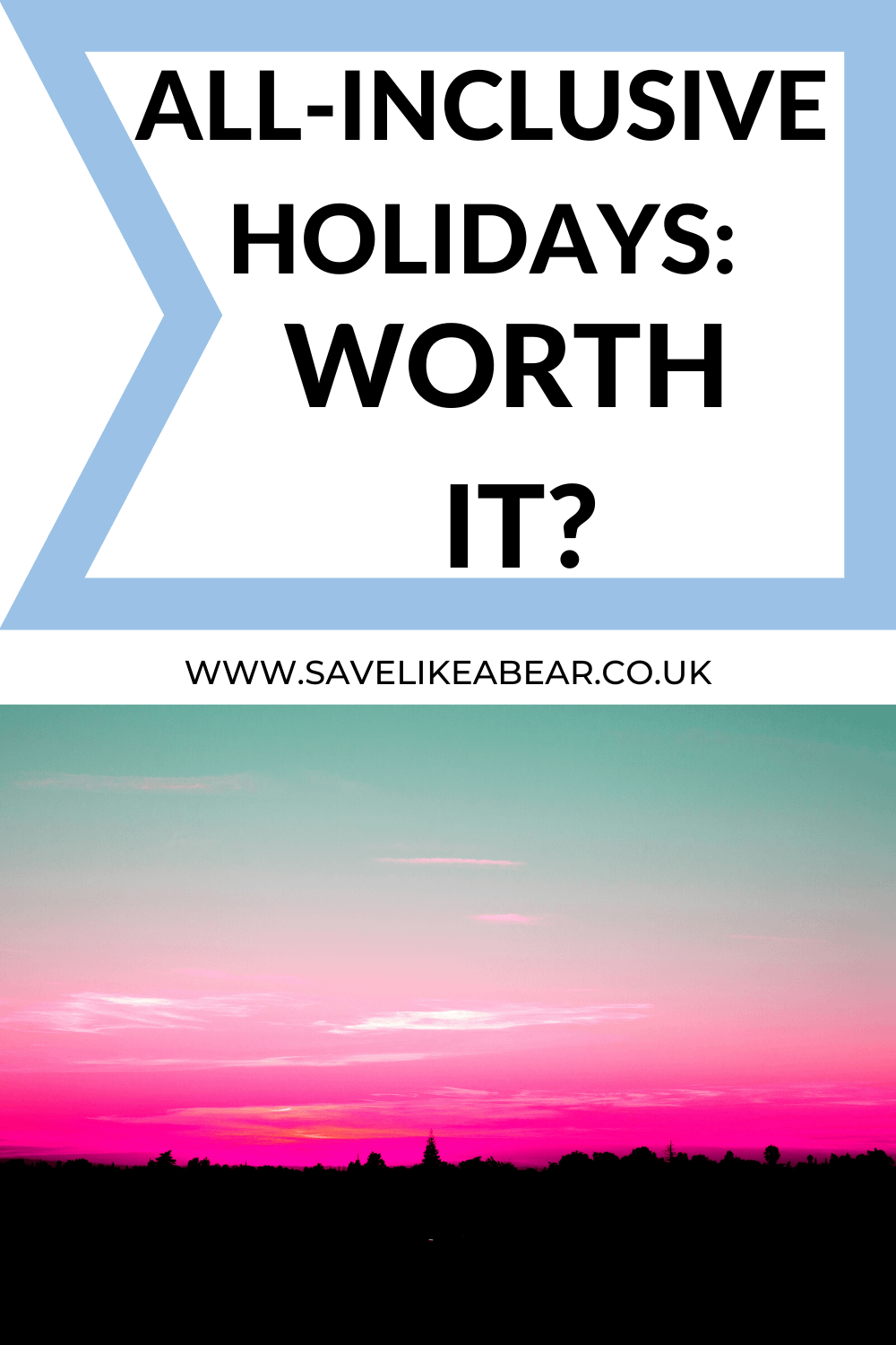 pink sunset abroad titled All-inclusive holidays: worth it?