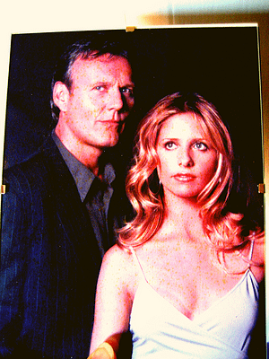Buffy and Giles from season 5 of Buffy the Vampire Slayer