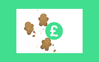 Gingerbread men and green pound sign